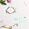 Rose Gold Foil Modern Botanical Wedding Invitations
