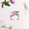 Pink Green Modern Botanical Wedding Invitations