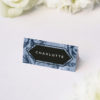 Blue Botanical Floral Wedding Name Place Cards Blue Botanical Floral Wedding Invitations