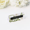 Lily Green White Black Modern Botanical Wedding Name Place Cards Modern Lily Flower Wedding Invitations