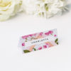 Floral Marble Pink Rose Gold Wedding Name Place Cards Floral Rose Gold Foil Marble Wedding Invitations
