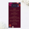 Floral Burgundy Red Purple Wedding Menus Marsala Love Burgundy Wedding Invitations