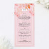 Light Pink Modern Botanical Wedding Menus Light Pink Modern Botanical Wedding Invitations