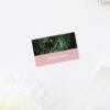 Modern Monstera Tropical Pink Wedding Name Place Cards Modern Monstera Tropical Leaves Pink Wedding Invitations