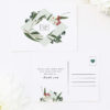 Eucalyptus Leaves Native Botanical Wedding Thank You Postcards Eucalyptus Leaves Native Botanical Floral Wedding Invitations