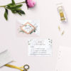 Modern Geometric Marble Rose Gold Wedding Invitations