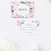 Elegant Dahlia Pastel Floral Wedding Invitations