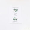 Simple Elegant Eucalyptus Save the Dates Simple Elegant Eucalyptus Green Leaves Wedding Invitations