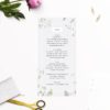 Pale Grey Modern Botanical Wedding Invites