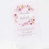 Floral Wreath Pastel Watercolour Wedding Invitations