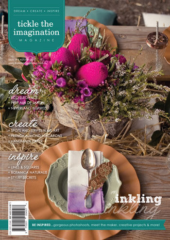 tickle the imagination magazine sail and swan handmade craft styling artist designers australia amazing