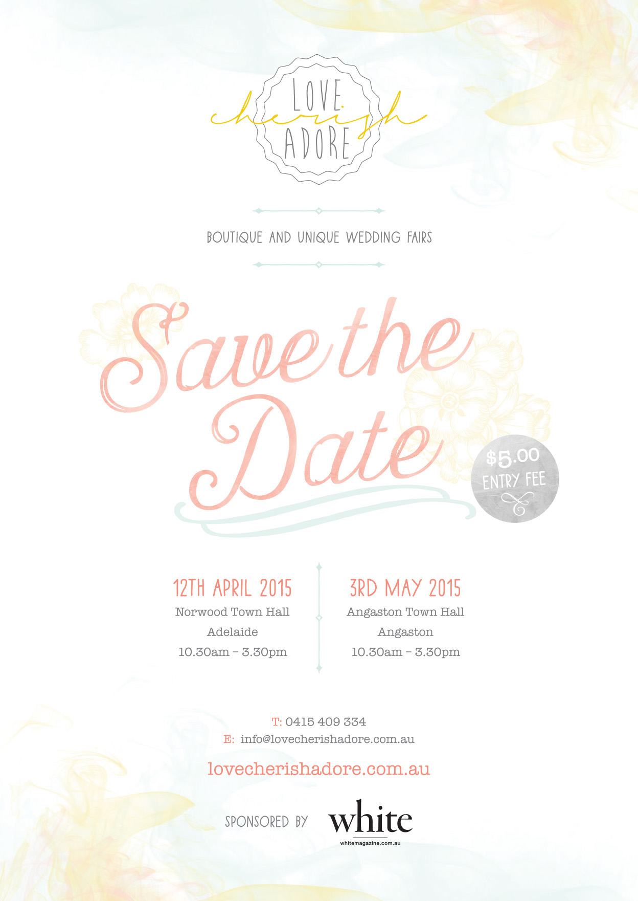 Love Cherish Adore Adelaide Bridal Fair Wedding Expo Vintage Indie Sail and Swan Wedding Invitations