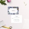 Blue Purple and Gold Marbled Wedding Invitations