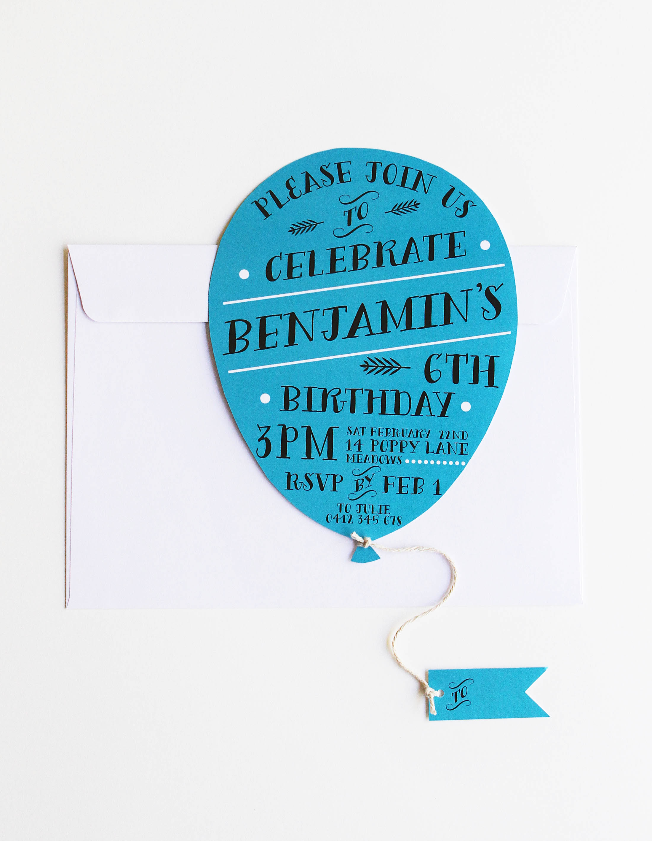 children's birthday invitations childrens kids party bright balloon pink blue fun happy confetti ideas inspiration adelaide perth melbourne sydney sail and swan