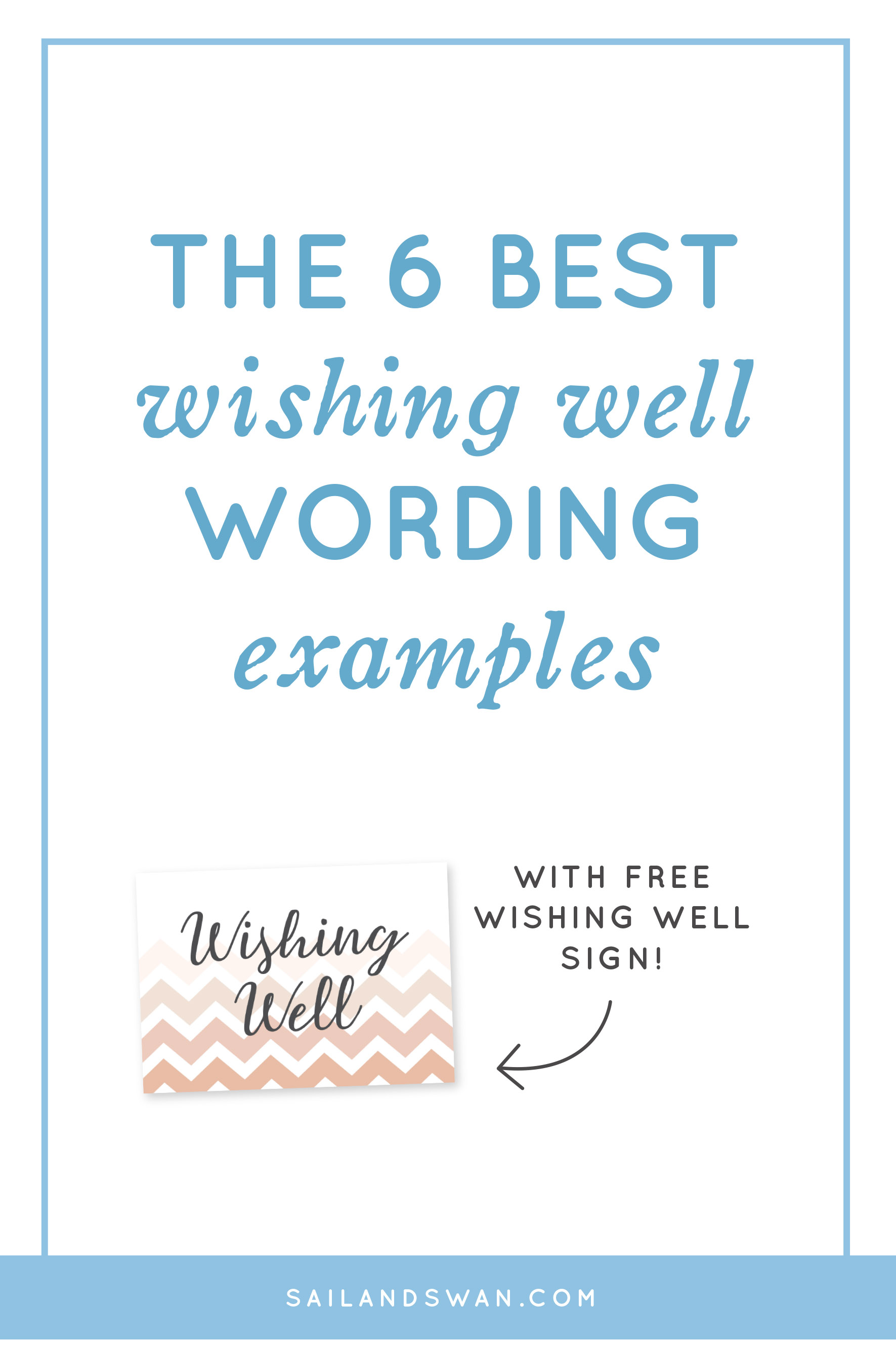 The 6 best wishing well wording examples wishing well wording ideas reheart Image collections
