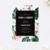 Modern Rose Wedding Invitations
