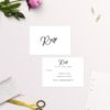 Simple Elegant Writing Wedding Invitations