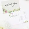 Forest Green Leaf Foliage Watercolour Wedding Thank You Postcards Forest Foliage Watercolour Floral Wedding Invitations