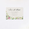 Watercolour Floral Save the Dates Forest Foliage Watercolour Floral Wedding Invitations