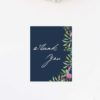 Navy Floral Watercolour Wedding Thank You Cards Floral Navy Wedding Invitations