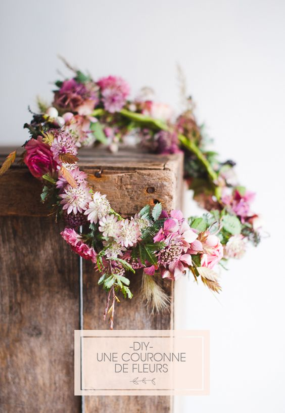 wedding flower crowns boho floral crown hair flowers country vintage rose leaves natural outdoors styled wedding shoot sail and swan blog