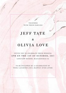 Pink Marble Wedding Inspiration Marble Wedding Invitations