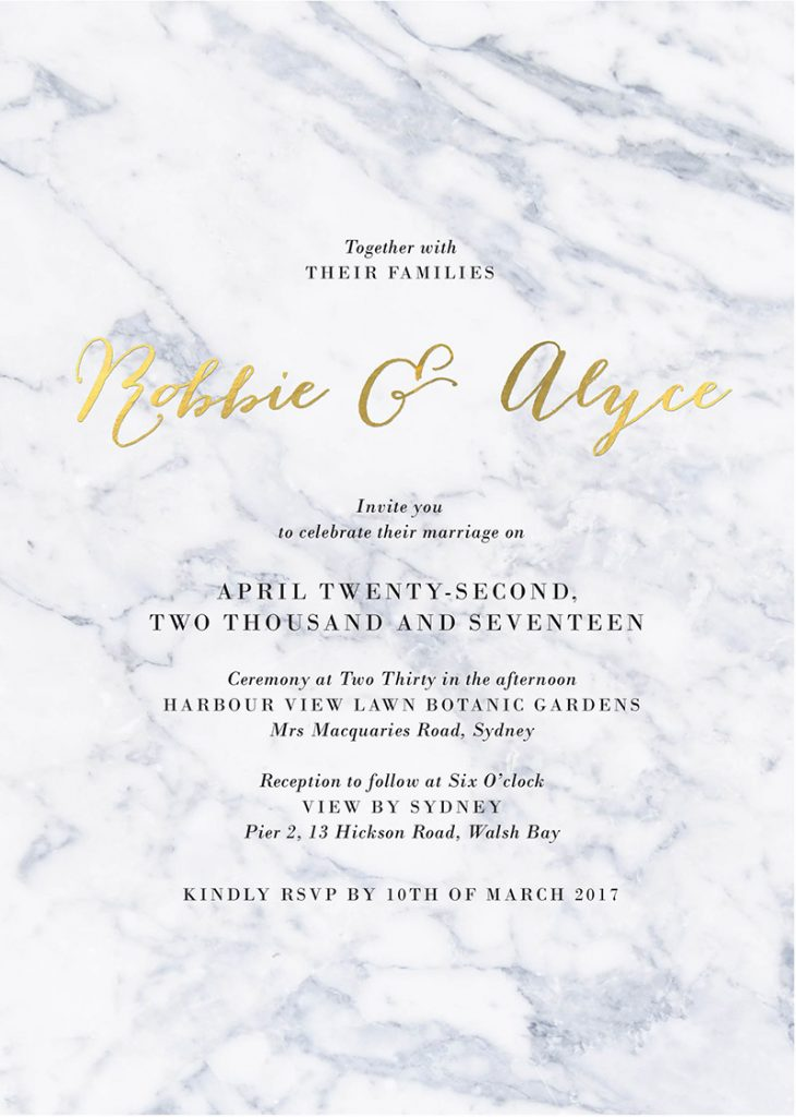 Marble Wedding Inspiration Marble Wedding Invitations