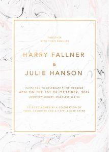 Pink and Grey Swirl Marble Wedding Inspiration Marble Wedding Invitations