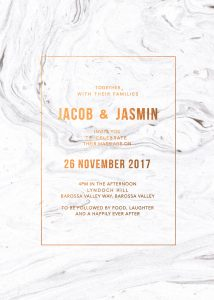 Bronze Foil Marble Wedding Inspiration Marble Wedding Invitations