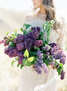 lilac wedding flower inspiration purple wedding inspiration