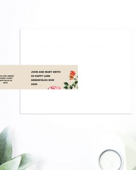 Modern Floral Wedding Invitations Vintage Floral Invites Wedding Stationery Australia Perth Brisbane Sydney Melbourne Adelaide Sail and Swan