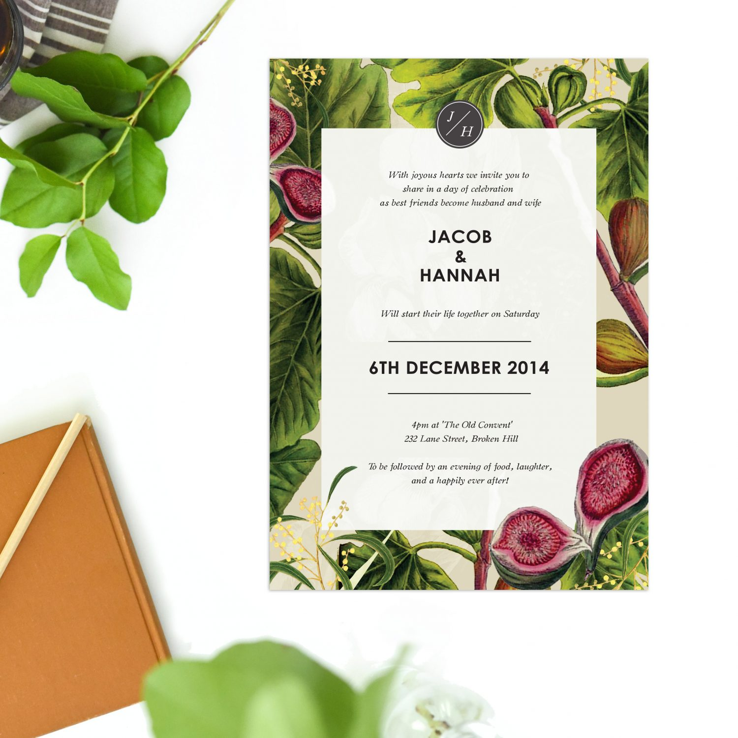 Australian Botanical Wedding Invitations