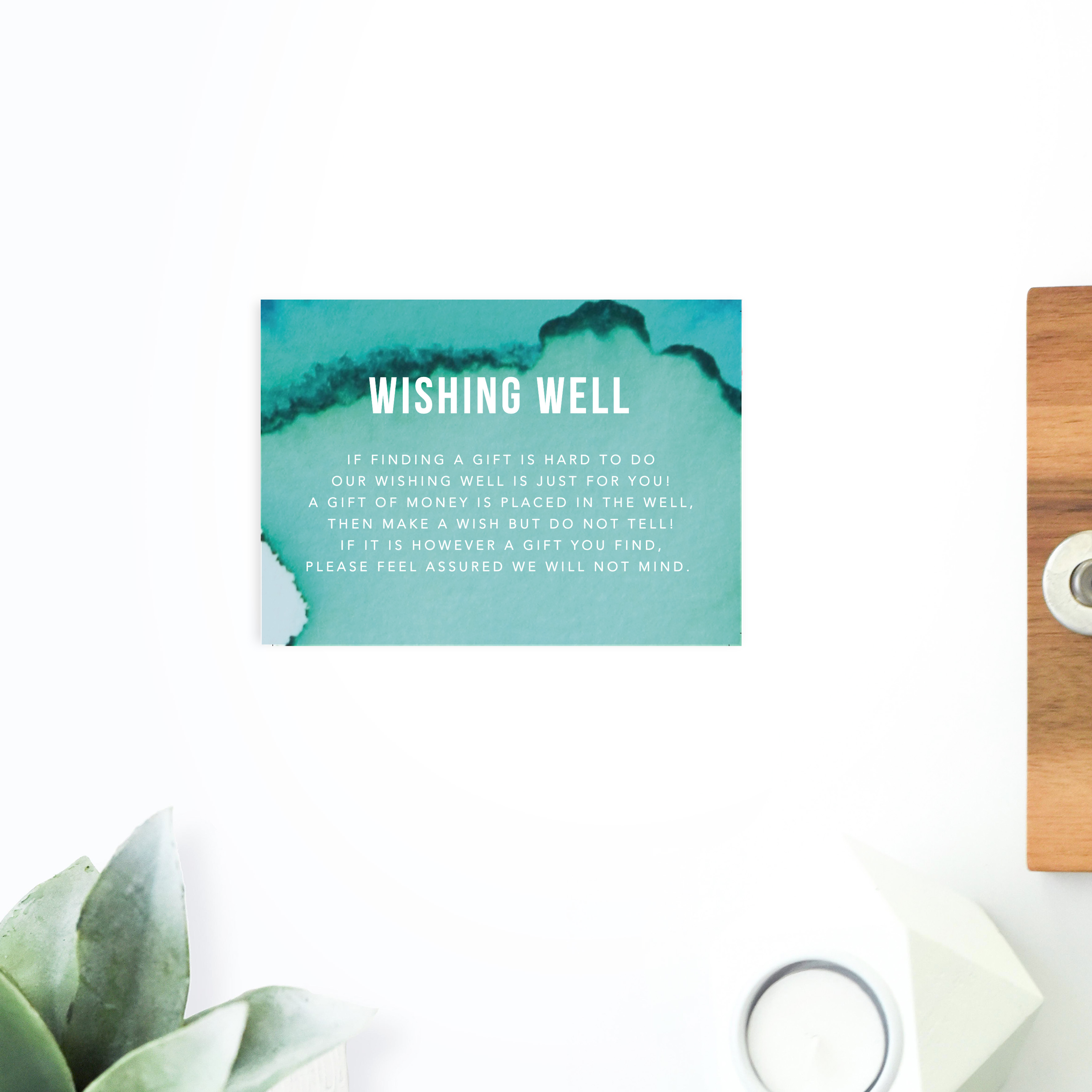 Turquoise Abstract Wedding Invitations Sail and Swan