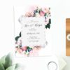 Native Floral Wedding Invitations Protea Pink Blush Rose Wedding Stationery Australia Invites Perth Sydney Melbourne Brisbane Adelaide Sail and Swan