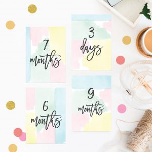 Pastel Watercolour Wedding Milestone Cards Wedding Inspiration Wedding Ideas Sail and Swan Wedding Planning Milestones Bride to Be Gift Wedding Preparation Engagement Gifts