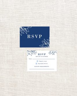 Floral Border Wooden Wedding Invitations Navy Wood Grain Lilies Flowers Botanical Abstract Custom Wedding Stationery Australia Sail and Swan