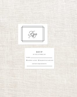 Classic Lines Wooden Wedding Invitations Wood Grain Handwriting Border Clean Contemporary Modern Custom Invites Australia