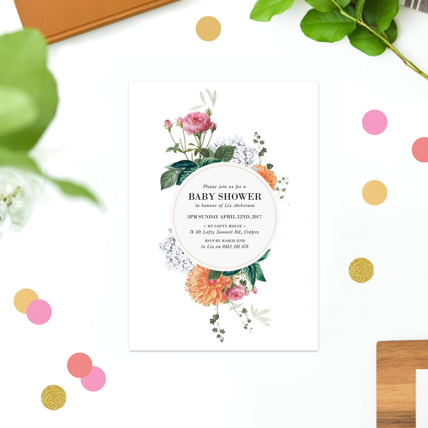 Clover Baby Shower Invitations - by Sail and Swan