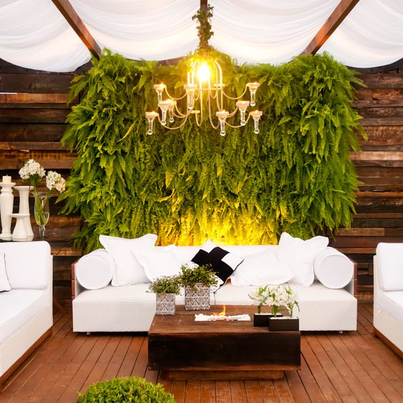 Wedding Trends for 2017 vertical garden classy wedding reception plants garden sail and swan