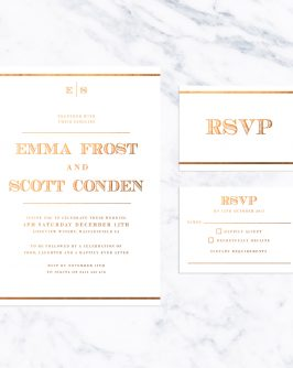 Bold Vintage Bronze Foil Wedding Invitations old Vintage Wooden Wedding Invitations Vintage Antique White American Currency Nautical Old World Rustic Classic Historical Simple Clean Stationery Australia Sail and Swan