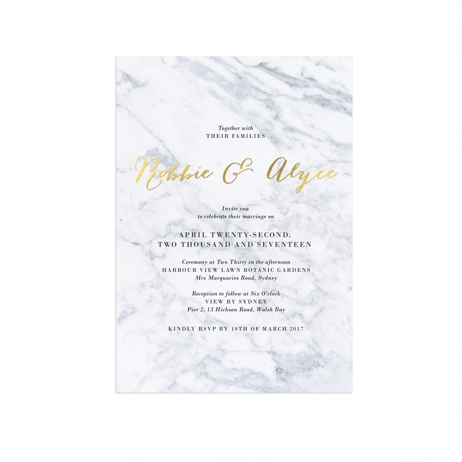 Gold foil marble wedding invitations sail and swan gold foil marble wedding invitations gold marble invitations gold foil marble invites wedding stationery australia perth stopboris Images