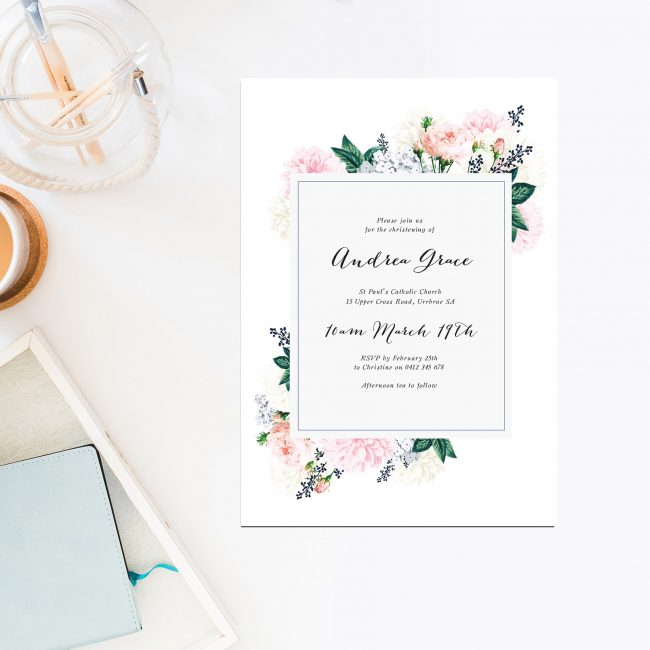 christening invitations australia sail and swan