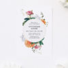 Beautiful Floral Rose Christening Invitations
