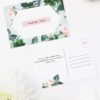 Floral Rose Garden Mint Green Pastel Wedding Thank You Postcards Floral Rose Mint Green Pastel Wedding Invitations