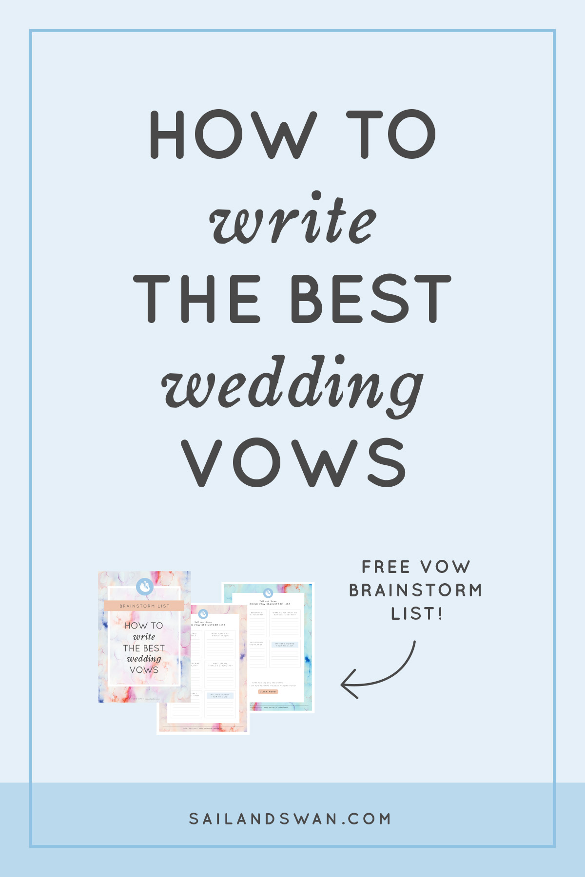 Sample personal wedding vows wedding gallery for Vow writing template