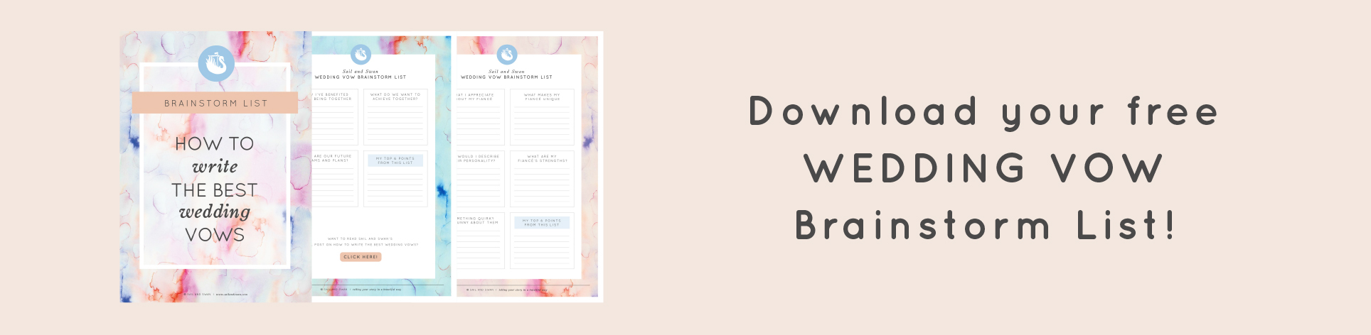 How to write the best wedding vows wedding vow examples and ideas by the way did you know that this blog comes with a free wedding vow brainstorm list simply click below to download and receive lots of other handy junglespirit Gallery
