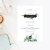 Natural Chic Green Modern Botanical Wedding Invitations Contemporary Greenery Foliage Mint Green Black Diamond Sydney Perth Melbourne Brisbane Sail and Swan