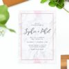 Marble Rose Gold Floral Wedding Invitations - Modern Invites Petals hydrangeas romantic blush pink united states australia new zealand perth sydney melbourne sail and swan