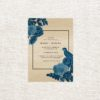 Santorini Blue Modern Floral Wooden Wedding Invitations Unique Wedding Invitations Australia Sydney Perth Melbourne Canberra Brisbane United States New York Los Angeles California New Zealand Auckland Sail and Swan