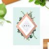 Rose Gold Foil Modern Botanical Wedding Invitations - Chic Greenery wedding invitations australia sydney melbourne perth brisbane